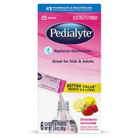 Pedialyte Electrolyte Powder Strawberry Lemonade Powder Powder Packs