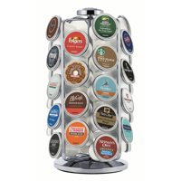 Keurig 36ct K-Cup Pod Storage Carousel Keurig Coffee Pod Storage Carousel, Holds and Organizes 36 K-Cup Pods, Chrome