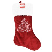 Holiday Time Velvet Stocking, Merry Christmas