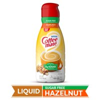 COFFEE MATE Sugar Free Hazelnut Liquid Coffee Creamer 32 Fl. Oz. Bottle | Non-dairy, Lactose-Free Creamer 32 fl oz.