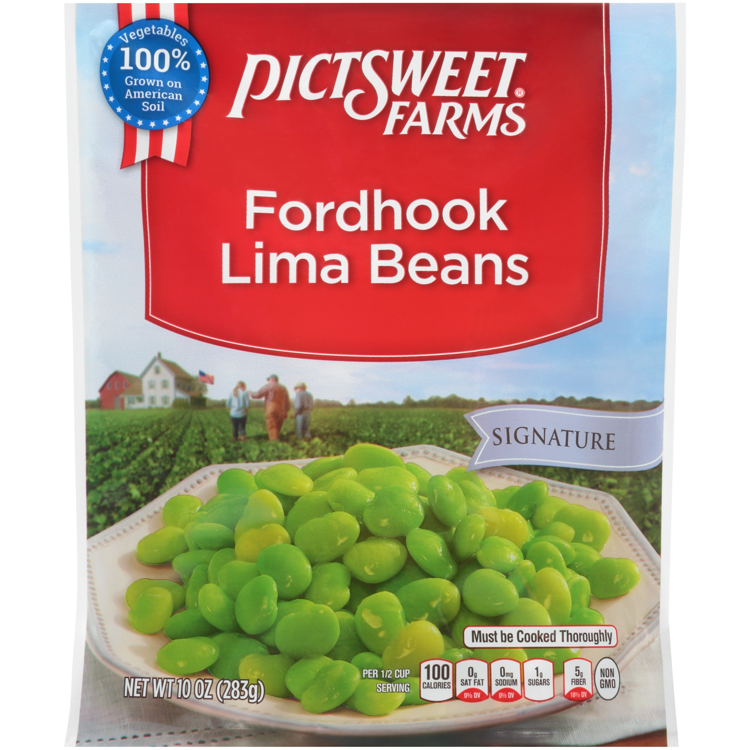 Pictsweet Farms® Signature Fordhook Lima Beans 10 oz. Stand-Up Bag
