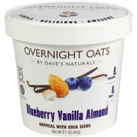 Dave's Naturals Overnight Oats Oatmeal With Chia Seeds