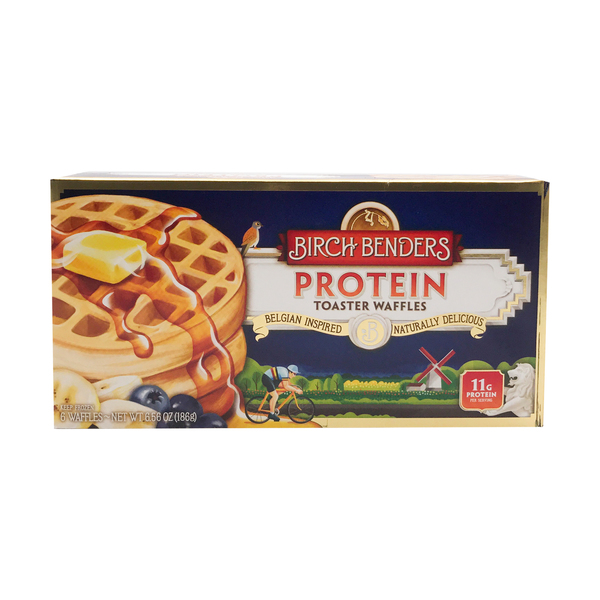 Birch benders griddle cakes Protein Toaster Waffles 6ct, 6.56 oz