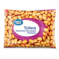 Great Value Frozen Taters, Seasoned Shredded Potatoes, 80 oz