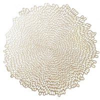 Mainstays Blossom Pressed Gold Vinyl Placemat