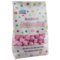 Party Sweets Pink Buttermints, 2.75 lbs