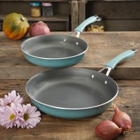"The Pioneer Woman 11"" & 9"" Teal Non-Stick Fry Pan Twin Pack, 2 Piece"