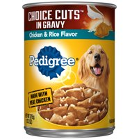 PEDIGREE CHOICE CUTS in Gravy Chicken & Rice Flavor Adult Canned Wet Dog Food, 13.2 oz. Can