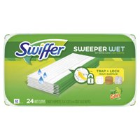 Swiffer Sweeper Wet Mopping Cloths with Gain Scent, 24 count