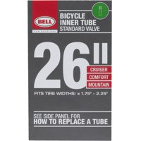 Bell Sports Standard Bicycle Inner Tube, 35mm Schrader Valve, 26' x 1.75-2.25'