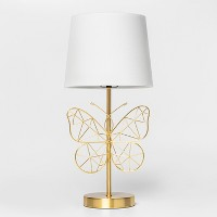 Butterfly Wire Table Lamp Gold - Pillowfort™