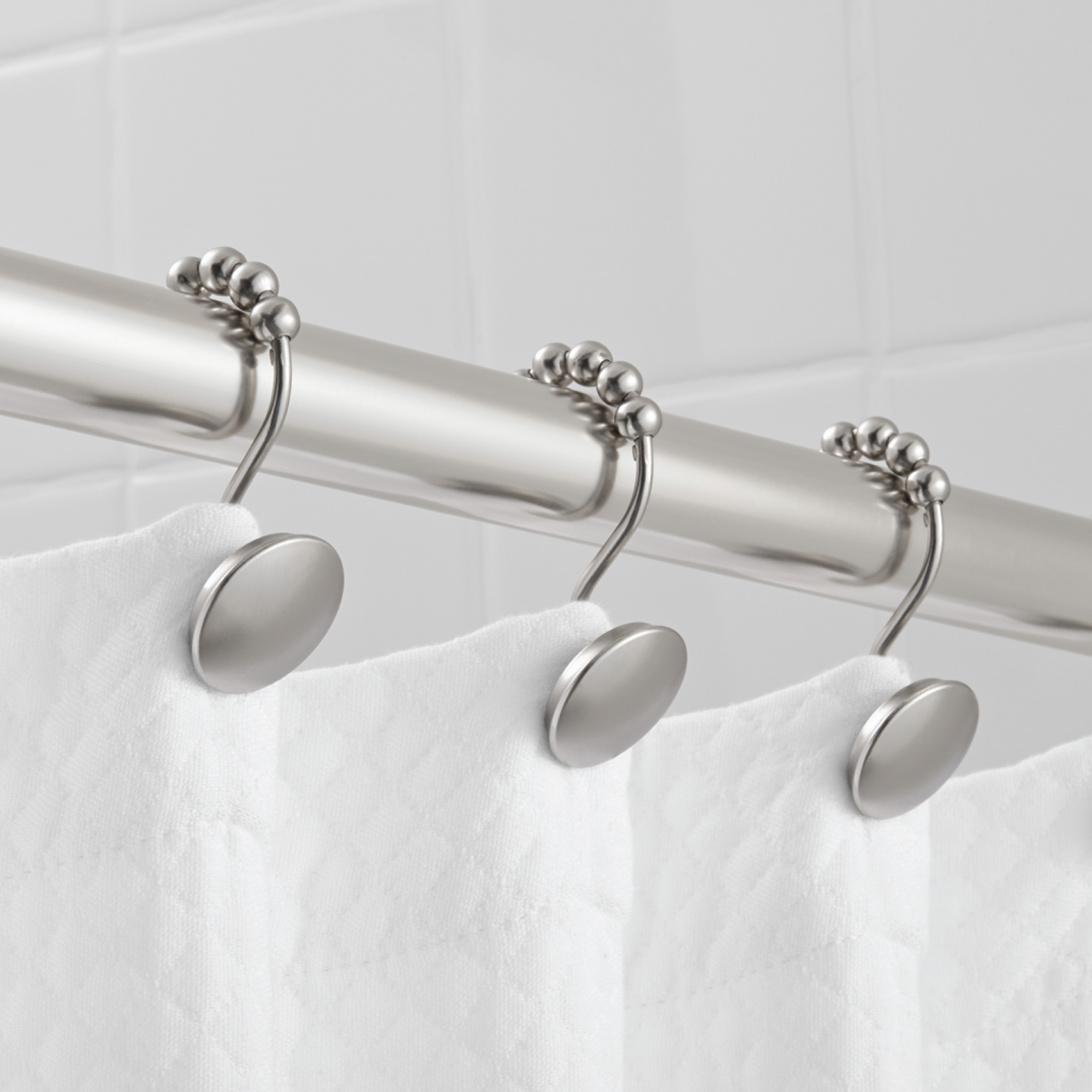 Hotel Style Peyton Shower Hooks with Easy Glide