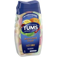Tums Antacid, Ultra Strength 1000, Assorted Fruit, Chewable Tablets