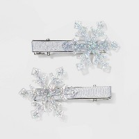 Snowflake Metal Pelican Hair Clips and Pins - Silver