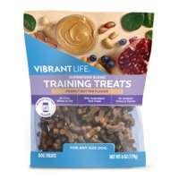 Vibrant Life Superfood Blend Peanut Butter Flavor Training Treats for Dogs, 9 oz