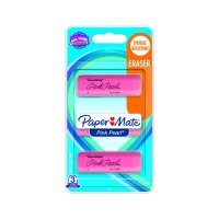 Paper Mate Pink Pearl Erasers, Large, 3 Count