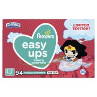 Pampers Easy Ups Justice League Training Underwear Girls Size 4 2T-3T 94 Count