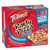 Totinos Party Pizza, Combination, 4 Pack