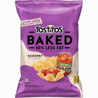 Tostitos Scoops! 50% Less Fat Baked Tortilla Chips, 6.25 Oz.