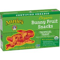 Annie's Homegrown Bunny Fruit Snacks, Organic, Tropical Treat