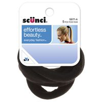 Scunci Effortless Beauty Black Cloth Pony Wraps