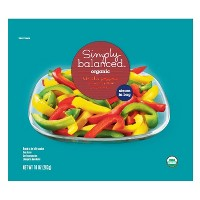 Organic Tri-Color Frozen Peppers - 10oz - Simply Balanced™