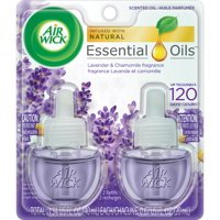 Air Wick Plug in Scented Oil Refill, 2 ct, Lavender and Chamomile, Air Freshener, Essential Oils