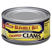 Bumble Bee Clams, In Clam Juice, Chopped
