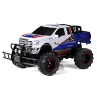 "New Bright RC 1:14 (12.5"") Radio Control Ford F-150 Baja Truck, 2.4 GHz USB - White"