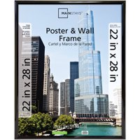 Mainstays Trendsetter 22' x 28' (Outside Dims: 23' x .75' x 29') Poster & Wall Frame, Black Finish