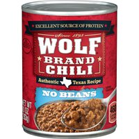 Wolf Brand Chili With No Beans