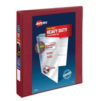 Avery 1' Heavy-Duty View Binder, 1-Touch Locking EZD Rings, Red, 79136