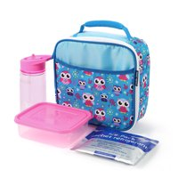 Arctic Zone Lunch Box Combo with Accessories and Microban® Protected Easy Clean Lining, Owl