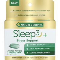 Nature's Bounty Sleep3 + Stress Support, Tri-Layer Tablets