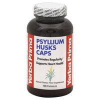 Yerba Prima Psyllium Husks For Weight Loss & Maintenance Premium Dietary Fiber Supplement Capsules