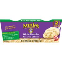 Annie's Homegrown Macaroni & Cheese, White Cheddar, 2 Pack