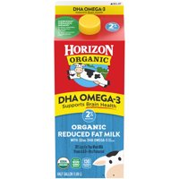 Horizon Organic 2% Reduced Fat DHA Omega-3 Milk, Half Gallon