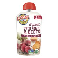 Earth's Best Organic Stage 2 Baby Food, Sweet Potato and Beets, 3.5 oz. Pouch