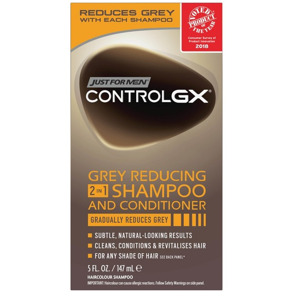 Just For Men Control GX Gray Reducing 2 in 1 Shampoo and Conditioner - 5oz
