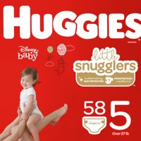 HUGGIES Little Snugglers Diapers, Size 5, 58 Count