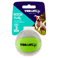 Vibrant Life Fetch Buddy Interactive Ball Dog Fetch Toy, Color May Vary, Small, Chew Level 3