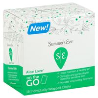 Summer's Eve 5 in 1 On The Go Cleansing Cloths for Sensitive Skin