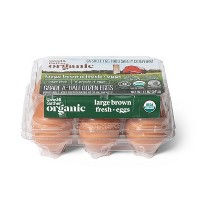 Organic Cage-Free Grade A Large Brown Eggs - 6ct - Good & Gather™
