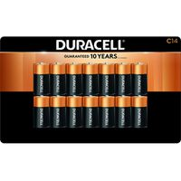Duracell Coppertop Alkaline C Batteries, 14 ct