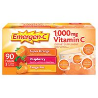 Emergen-C Vitamin C 1,000 mg Variety Packets, 90 ct