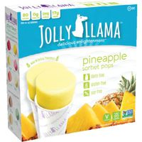 Jolly Llama Pineapple Sorbet Pops