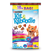 Purina Kit & Kaboodle Dry Cat Food, Original, 16 lb. Bag