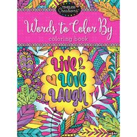 Cra Z Art Timeless Creations Words to Color by Adult Coloring Book