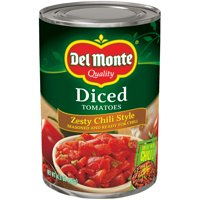 Del Monte Zesty Chili Style Diced Tomatoes, 14.5 Oz