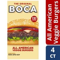 BOCA Non-GMO Soy All American Veggie Burgers, 4 ct - 10.0 oz Box